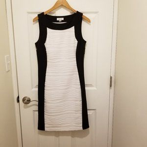 Calvin Klein Black & White Dress Size 8